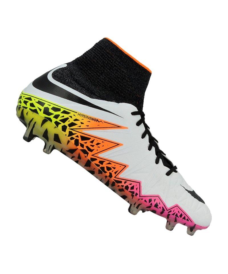 Nike hypervenom phantom ii fg weiss schwarz f108 fussballschuh