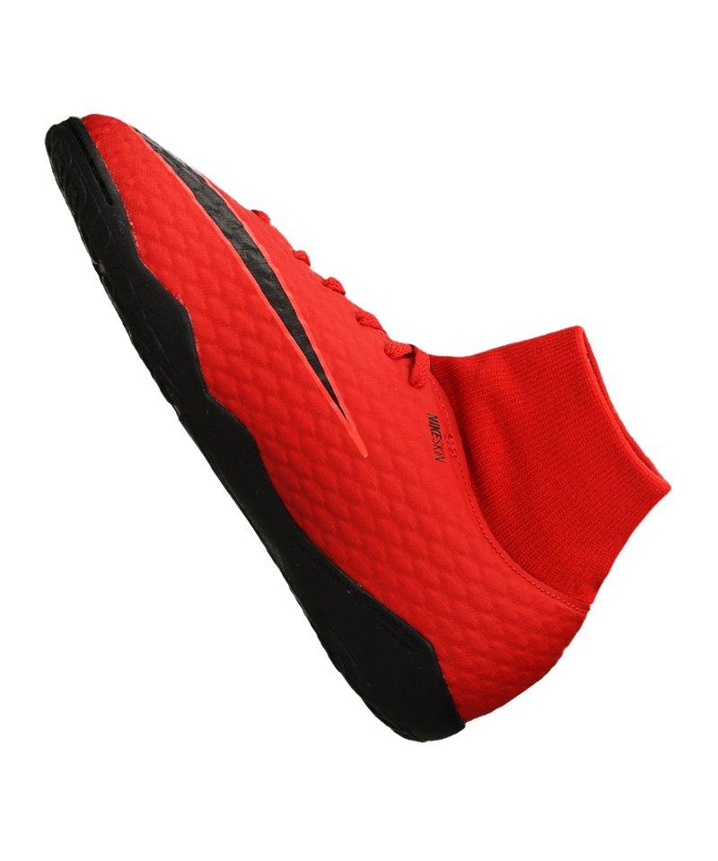 Nike Jr Hypervenom Phelon III DF IC Kinder Hallenschuhe 917774 616 rot