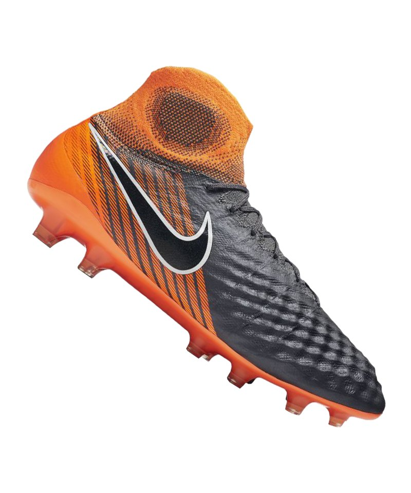 new product b654b da639 Nike Magista Obra II Elite DF FG Grau Orange F080 - Grau