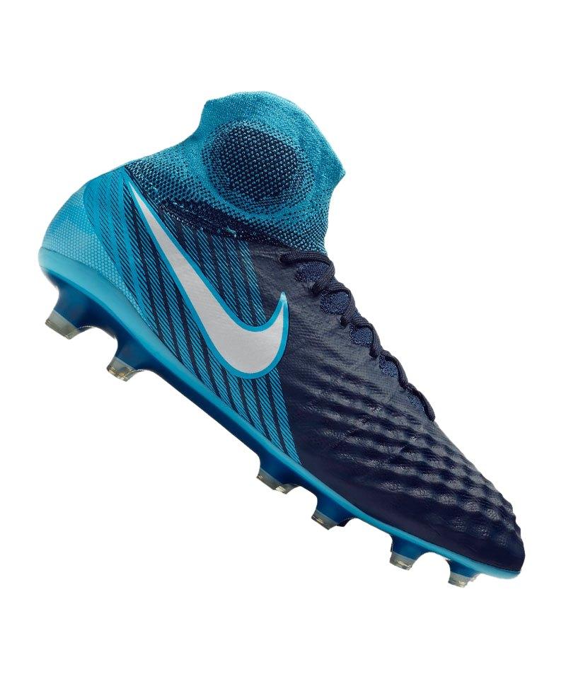 timeless design b784e 49747 Nike Magista Obra II FG Blau F414 - blau