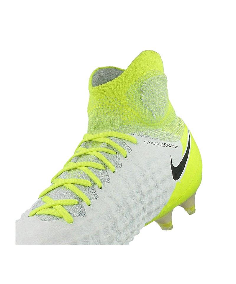 Nike Magista Obra Schwarz Weiß Gelb ~ Nike Magista Obra II FG Weiss Gelb F109  weiss