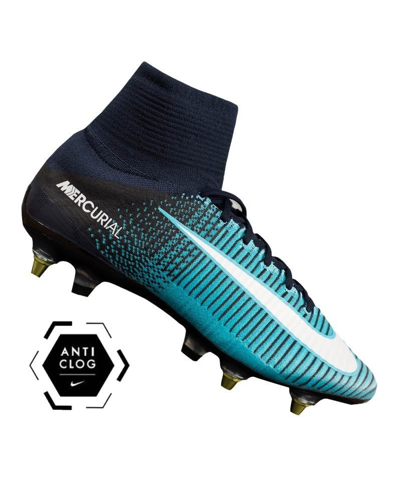 nike mercurial superfly sg pro anti clog blau f414. Black Bedroom Furniture Sets. Home Design Ideas