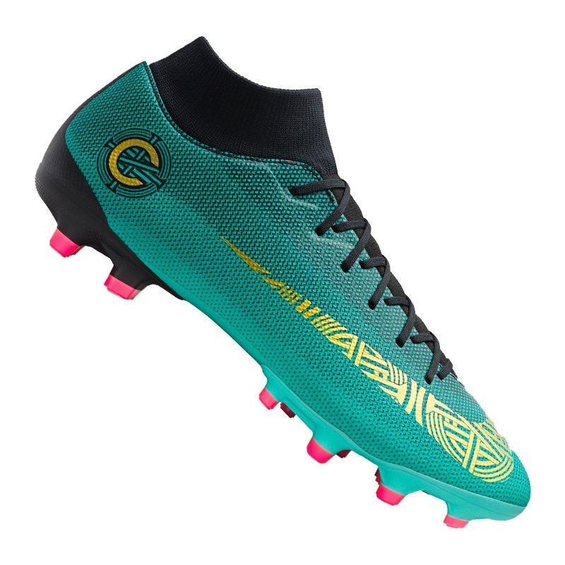 1766a46781f71 best price nike mercurial superfly ronaldo cr7 tf soccer schuhe silber  schwarz ed56a b2d96
