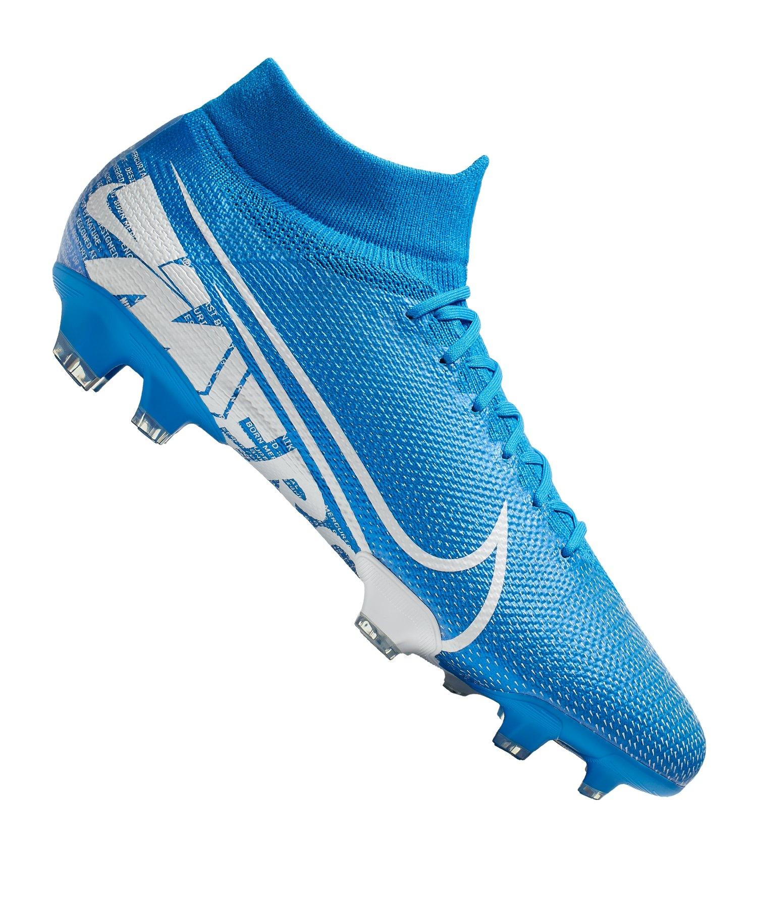 schöner Stil verkauf usa online exklusives Sortiment Nike Mercurial Superfly VII Pro FG Blau Weiss F414