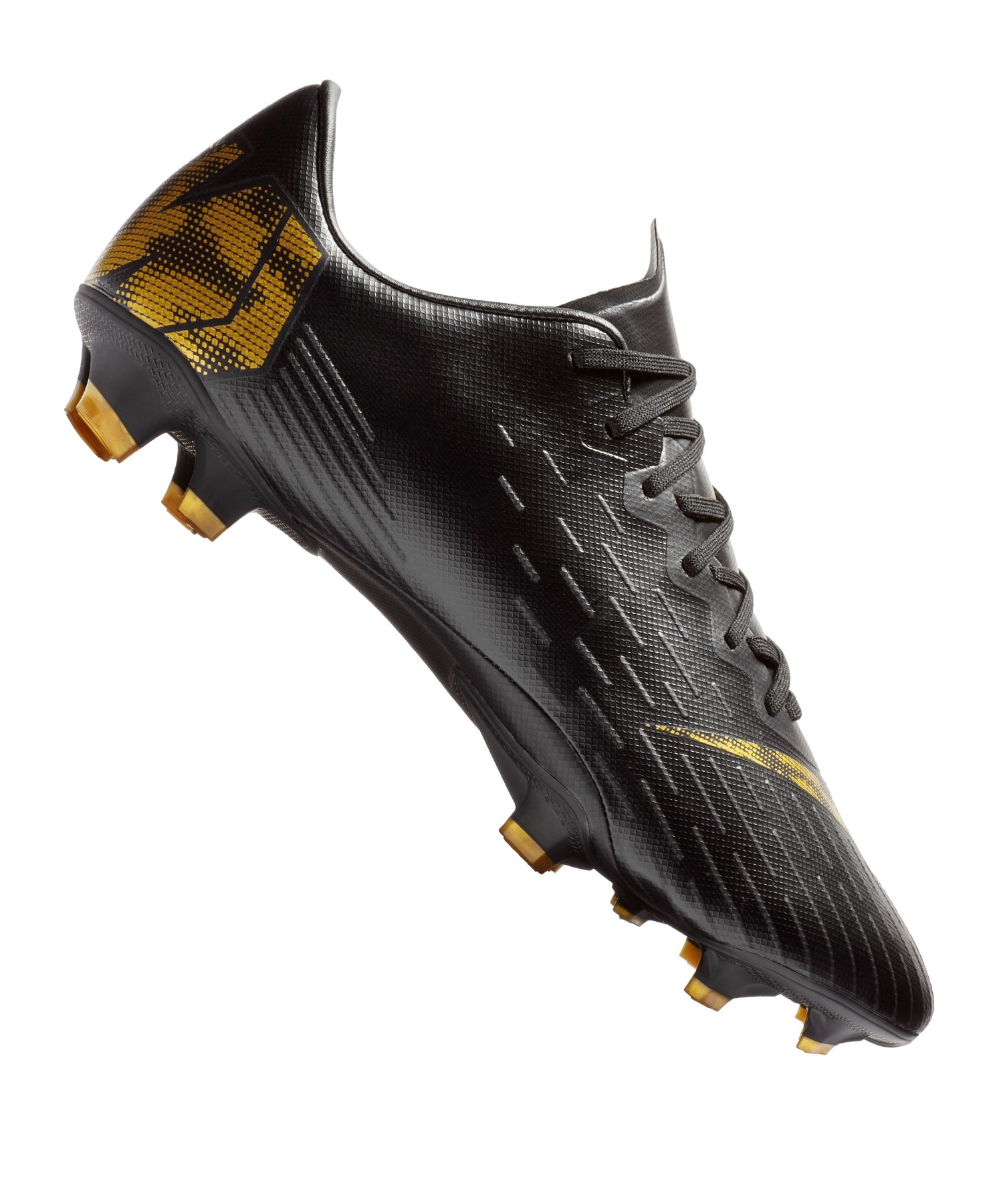 Nike Mercurial Vapor XII Pro FG Schwarz Gold F077 |Fussballschuhe ...