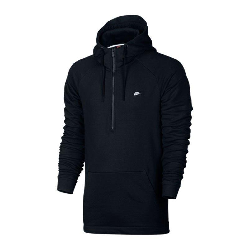 nike modern 1 2 zip hoodie sweatshirt schwarz f010. Black Bedroom Furniture Sets. Home Design Ideas