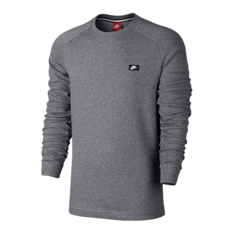 nike modern crew sweatshirt grau f091 freizeitshirt. Black Bedroom Furniture Sets. Home Design Ideas