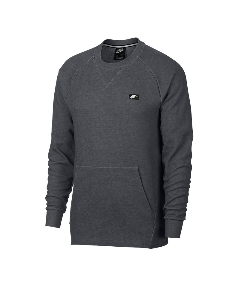 3b0df634437a Nike Optic Fleece Sweatshirt Grau F021   Lifestyle   Freizeit ...