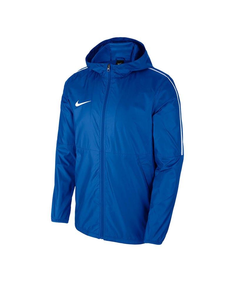 7a49eccd9a5d5a Nike Park 18 Rain Jacket Regenjacke Blau F463 - blau
