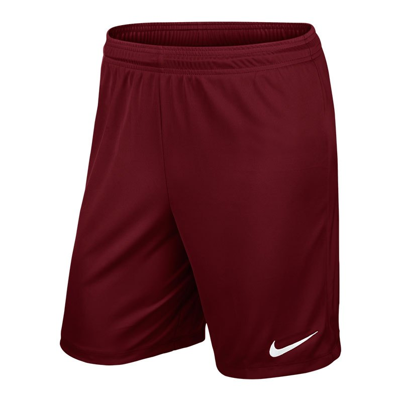 Nike Park II Short mit Innenslip Dunkelrot F677