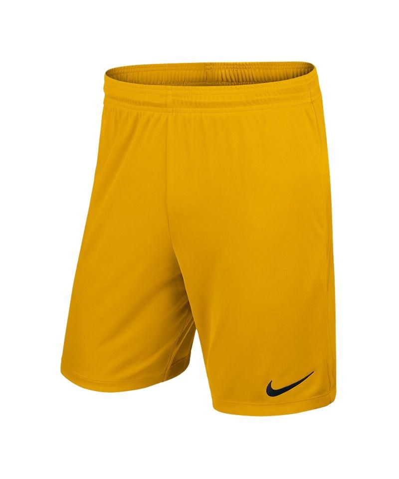the best attitude 47a15 ff5c7 Nike Park II Short ohne Innenslip Gelb F739 - gelb