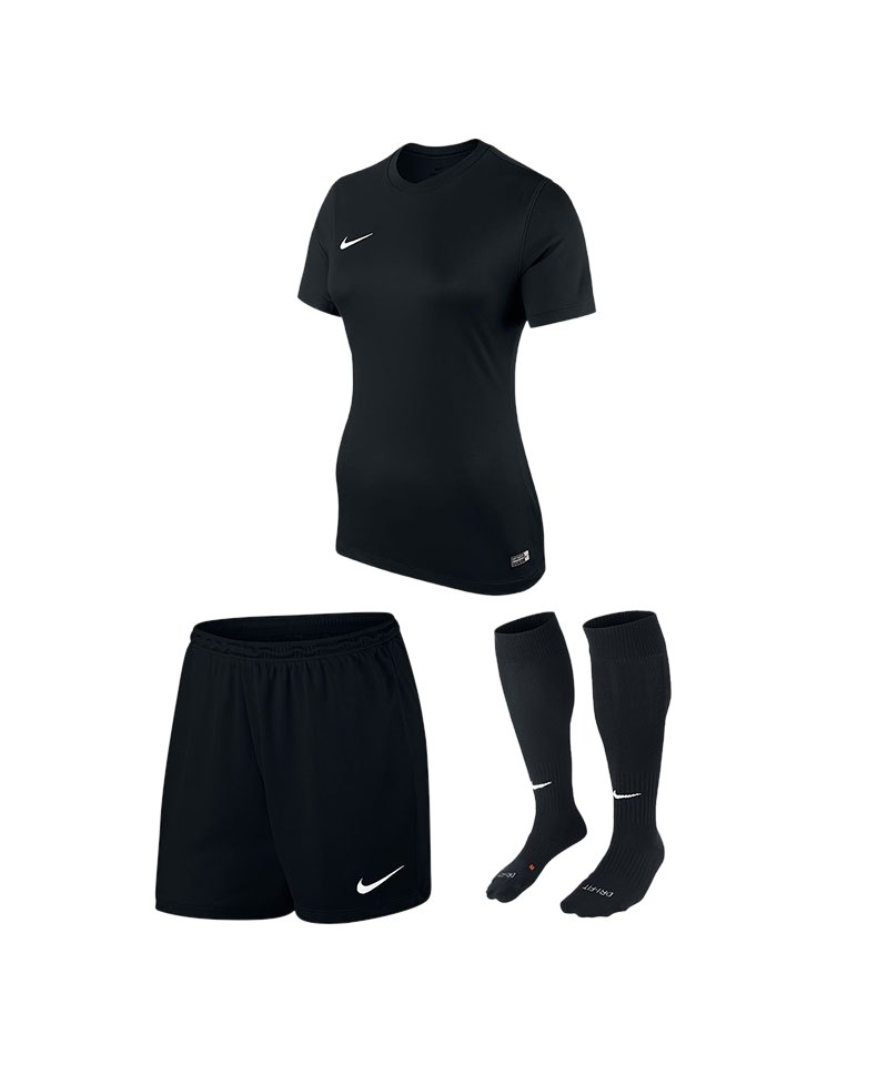 finest selection a059a 4be6a Nike Park VI Trikotset Damen Schwarz F010