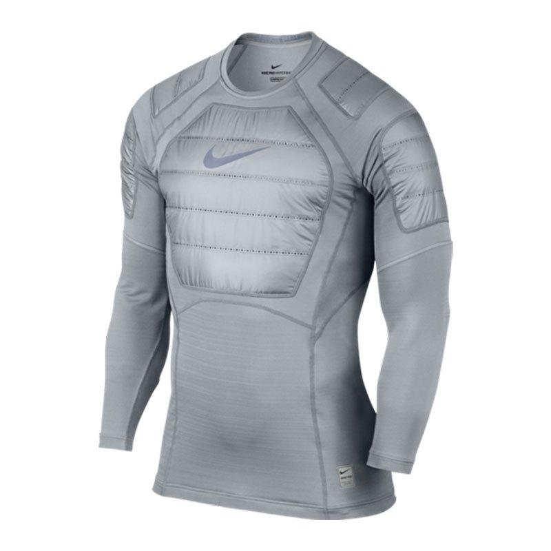 Nike Pro AeroLoft Top Langarmshirt Grau F012 - grau