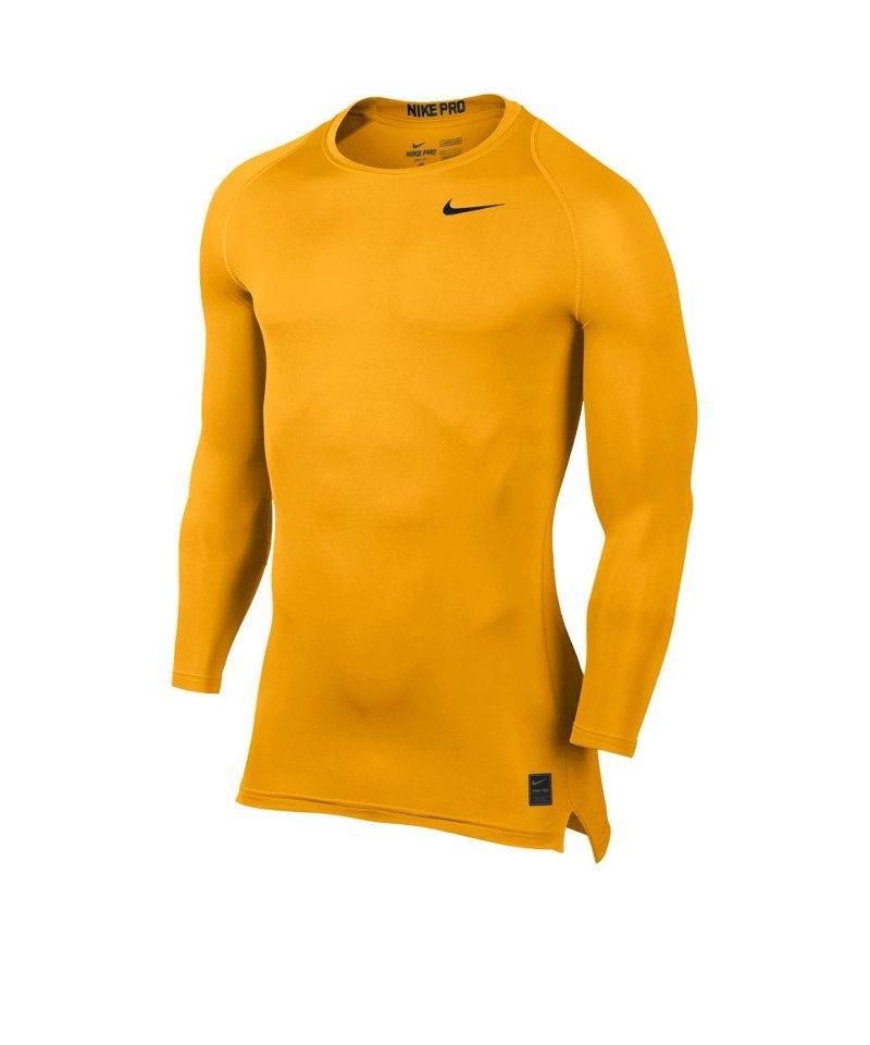 fa9a0c27d4389d Nike Pro Compression LS Shirt Gelb F739 - gelb