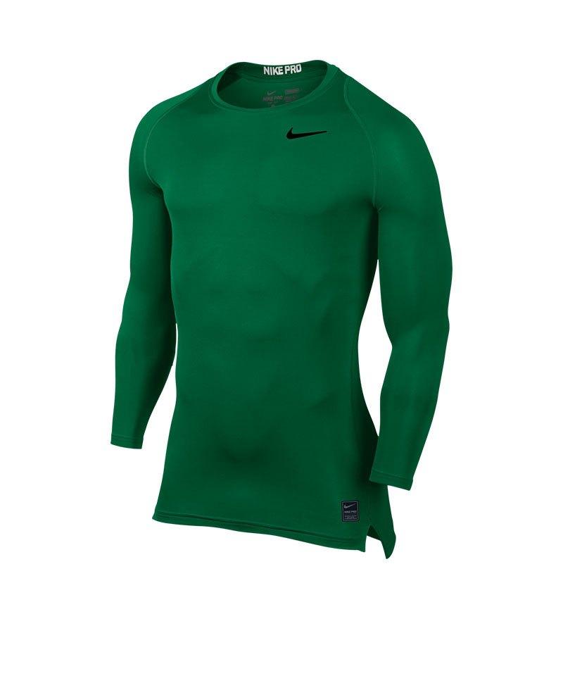 407af8291 Nike Pro Compression LS Shirt Grün F302 | Langarmshirt | Underwear ...