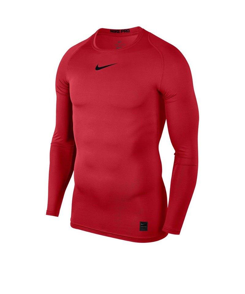 Nike Pro Compression LS Shirt Rot F657 - rot