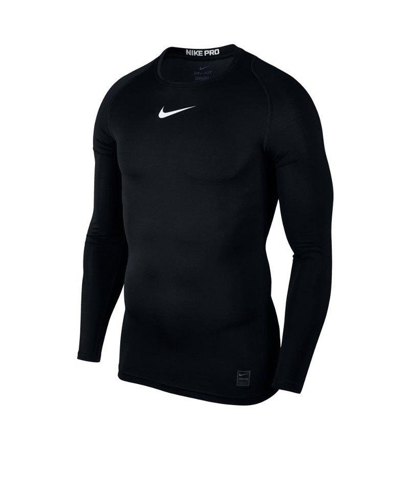Nike Pro Compression LS Shirt Schwarz F010