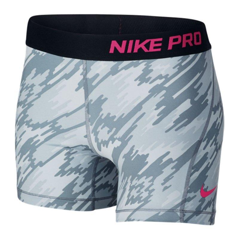 Nike Pro Short Kids Grau Schwarz F043 - grau