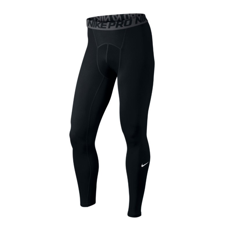 Nike Pro Tight Hose lang Schwarz F010 - schwarz