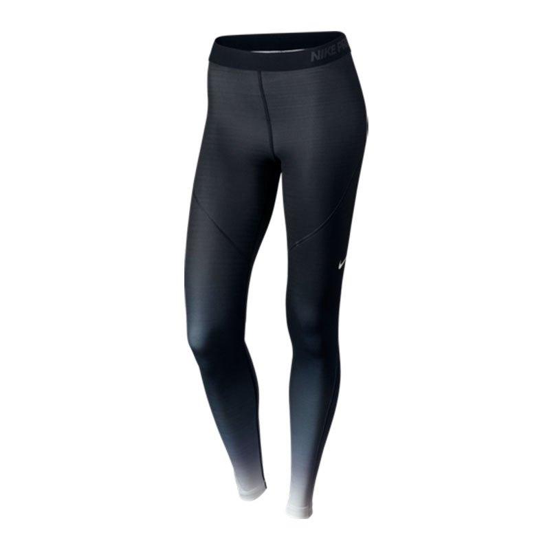 Nike Pro Hyperwarm Fade Tight Damen Schwarz F010 - schwarz
