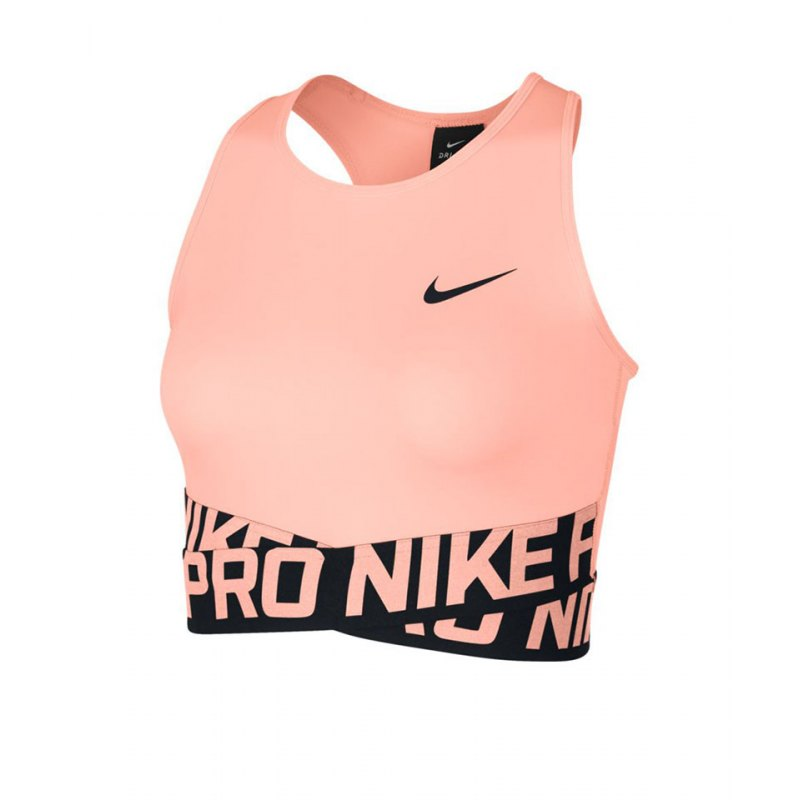 nike pro intertwist crop tank top damen pink f646 textil. Black Bedroom Furniture Sets. Home Design Ideas