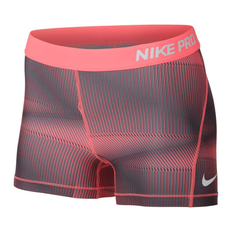 nike pro short hose kurz damen rot weiss f676. Black Bedroom Furniture Sets. Home Design Ideas