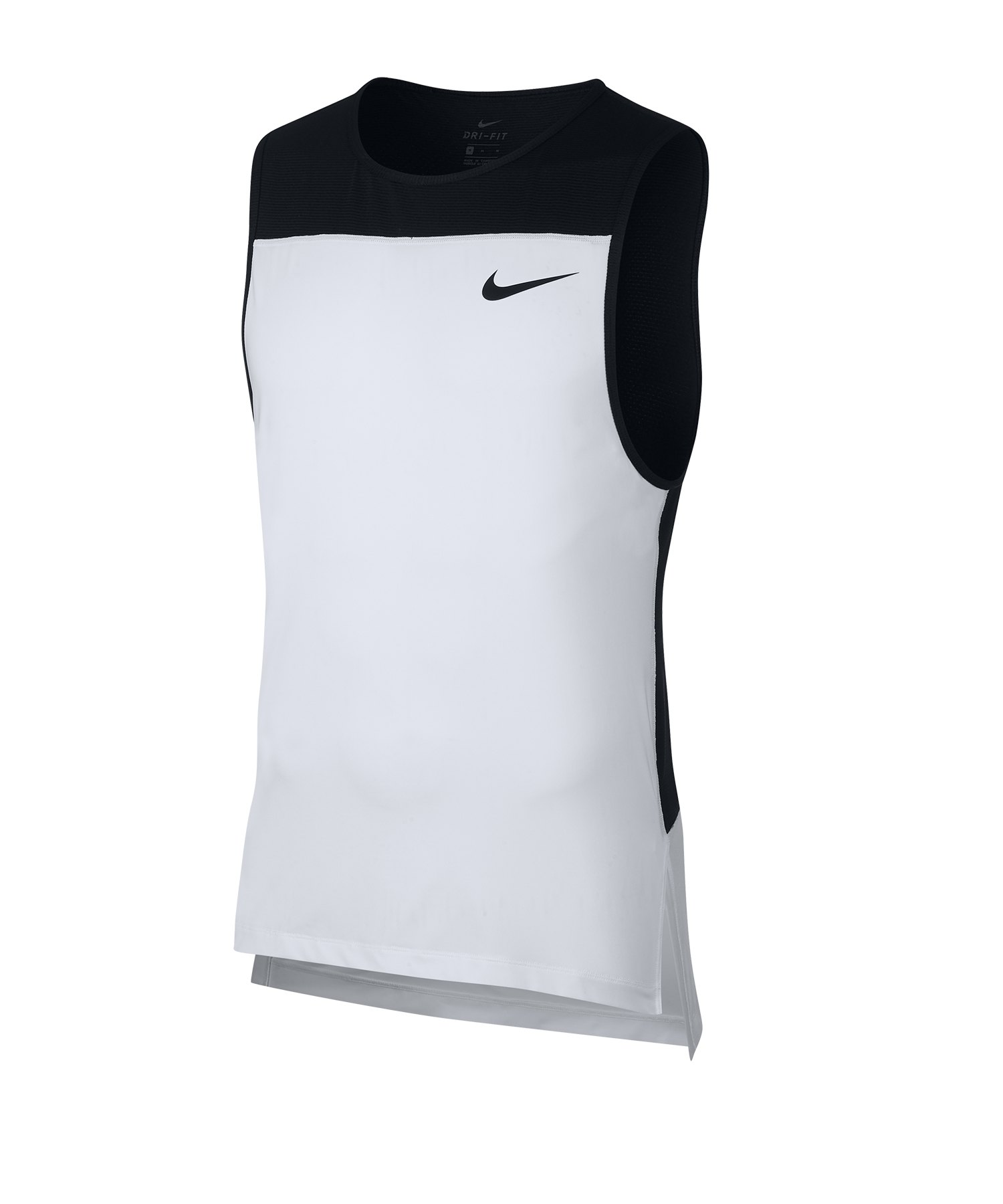 new products 1c5c9 60819 Nike Pro Tank Top Running Weiss Schwarz F100