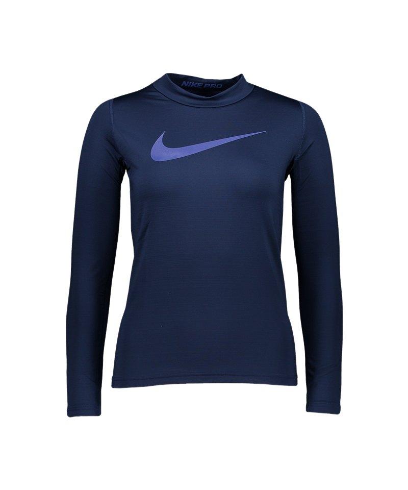 Nike Pro Warm Top T Shirt Kids Blau F429