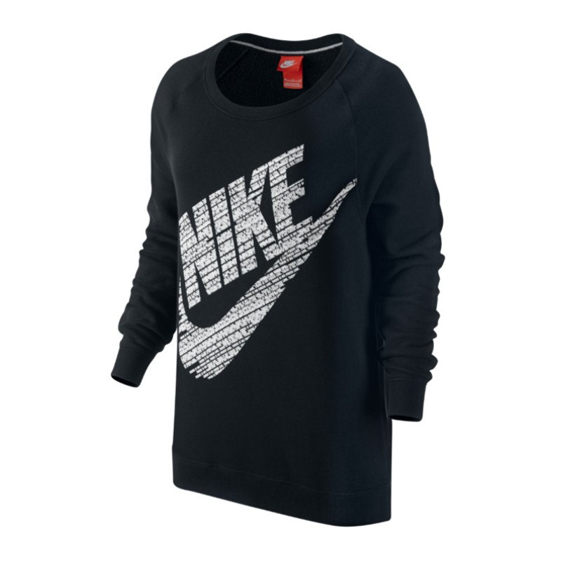 nike rally bf crew logo sweatshirt damen f010 lifestyle. Black Bedroom Furniture Sets. Home Design Ideas