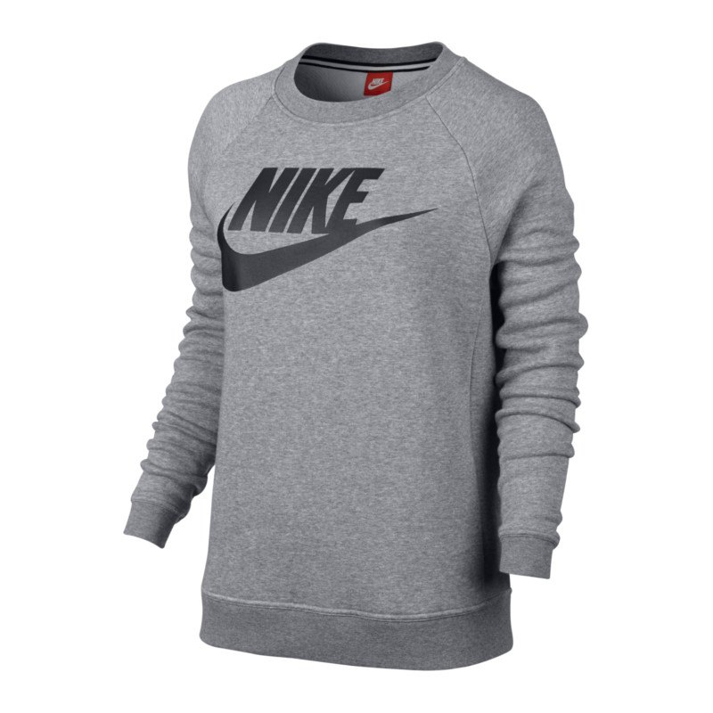 nike rally crew gx1 sweatshirt damen grau f091. Black Bedroom Furniture Sets. Home Design Ideas