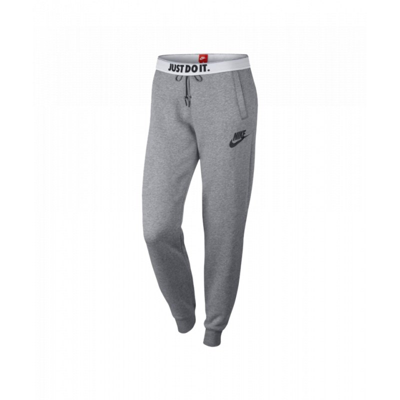 nike rally pant jogginghose damen grau f091 streetwear. Black Bedroom Furniture Sets. Home Design Ideas