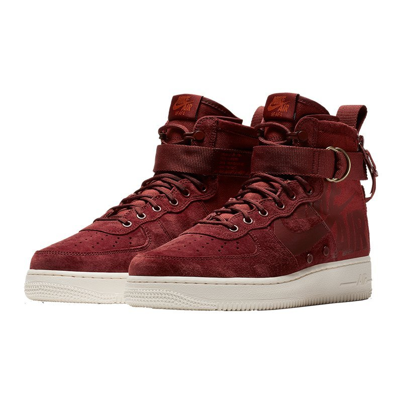 nike sf air force 1 mid sneaker rot f202 freizeit. Black Bedroom Furniture Sets. Home Design Ideas