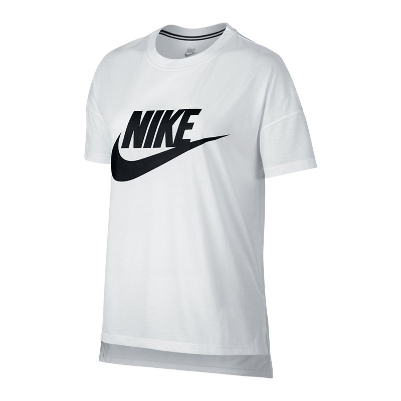 nike signal logo tee t shirt damen weiss f100 weiss. Black Bedroom Furniture Sets. Home Design Ideas