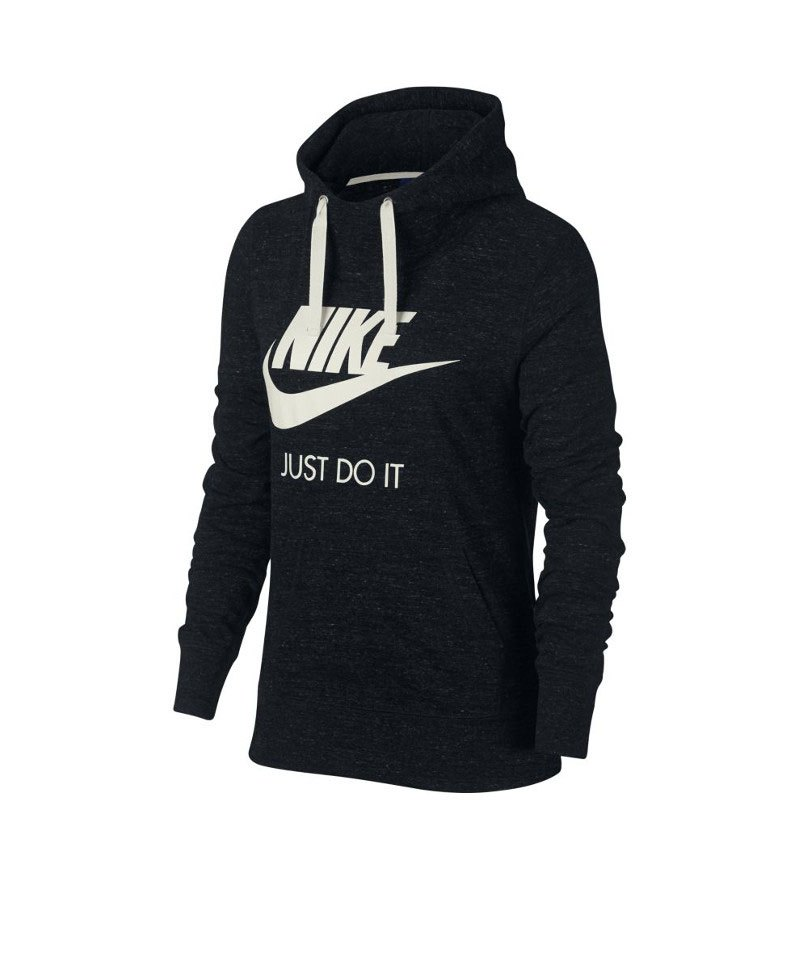 nike sportswear gym vintage hoody schwarz f010 langarm. Black Bedroom Furniture Sets. Home Design Ideas