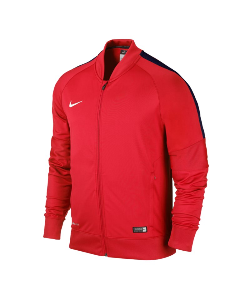 nike squad 15 sideline knit jacke rot f662. Black Bedroom Furniture Sets. Home Design Ideas