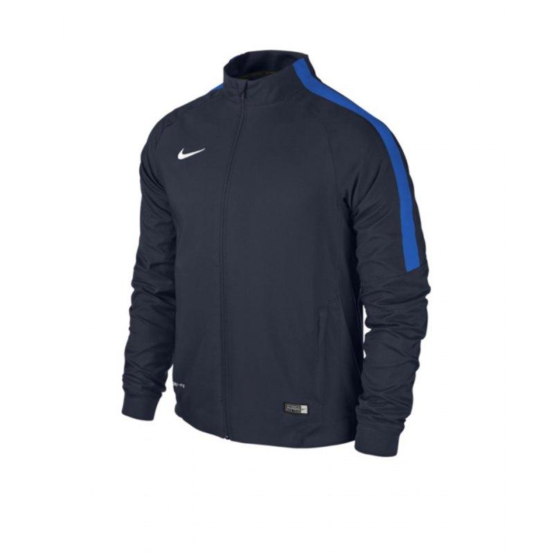 buy popular 7c44c 32638 Nike Squad 15 Sideline Woven Jacke Blau F451   Präsentationsjacke ...