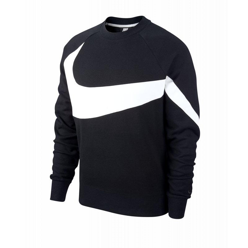 Nike Statement Swoosh Crew Sweatshirt Schwarz F010