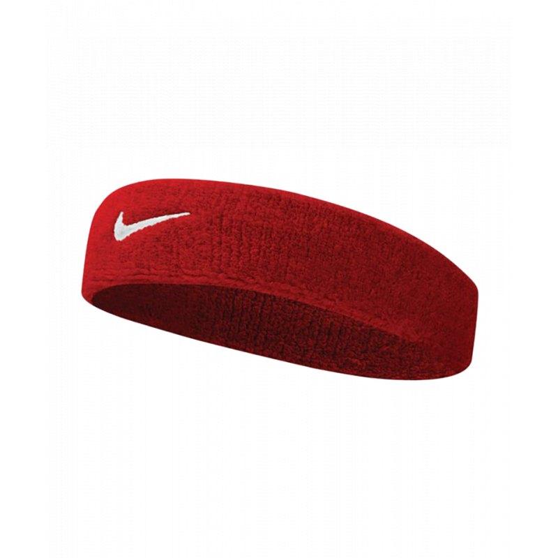 Nike Swoosh Stirnband Rot Weiss F601