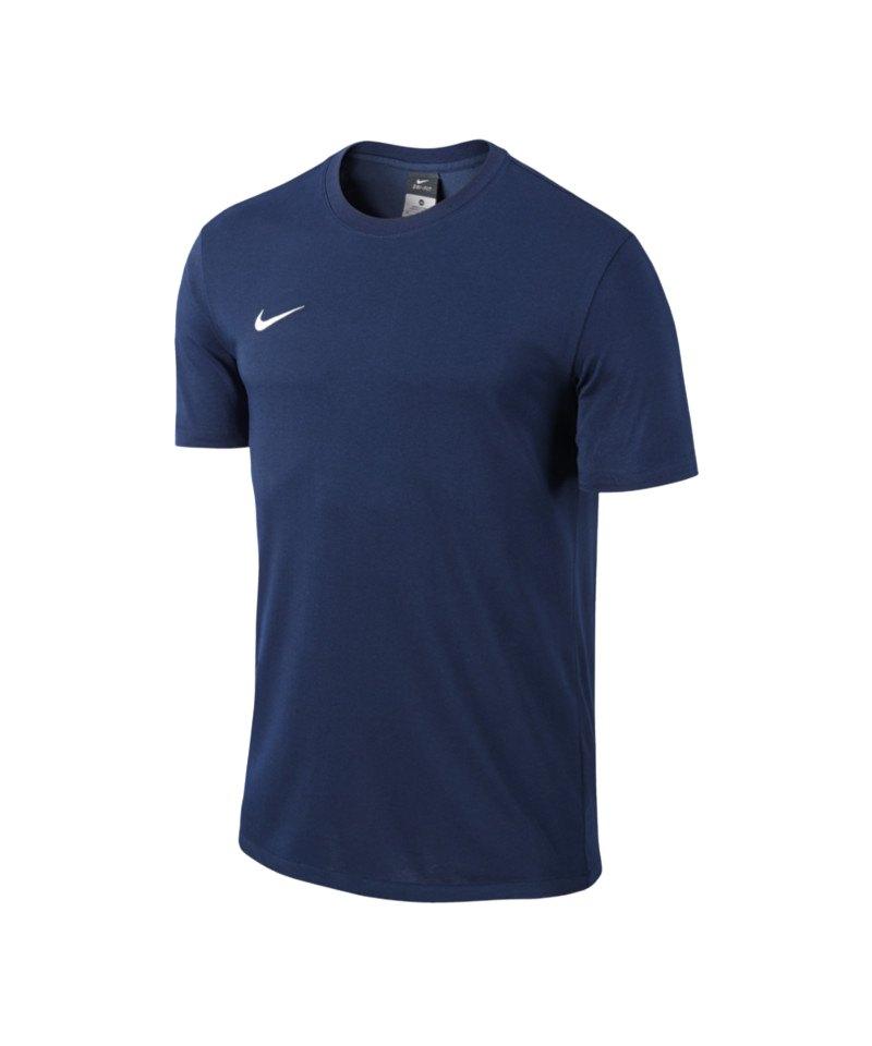 cc76e935 Nike Team Club Blend Tee T-Shirt Blau F451 | Kurzarmshirt ...