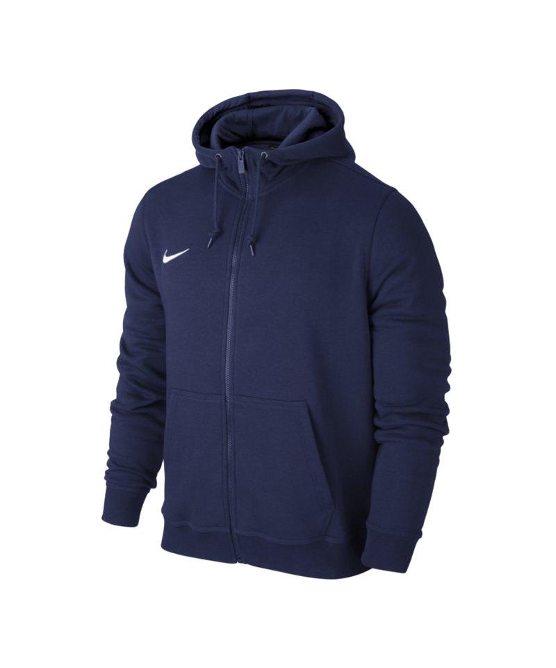 8c29692f2f025e Nike Team Club Fullzip Hoody Jacke Blau F451 - blau