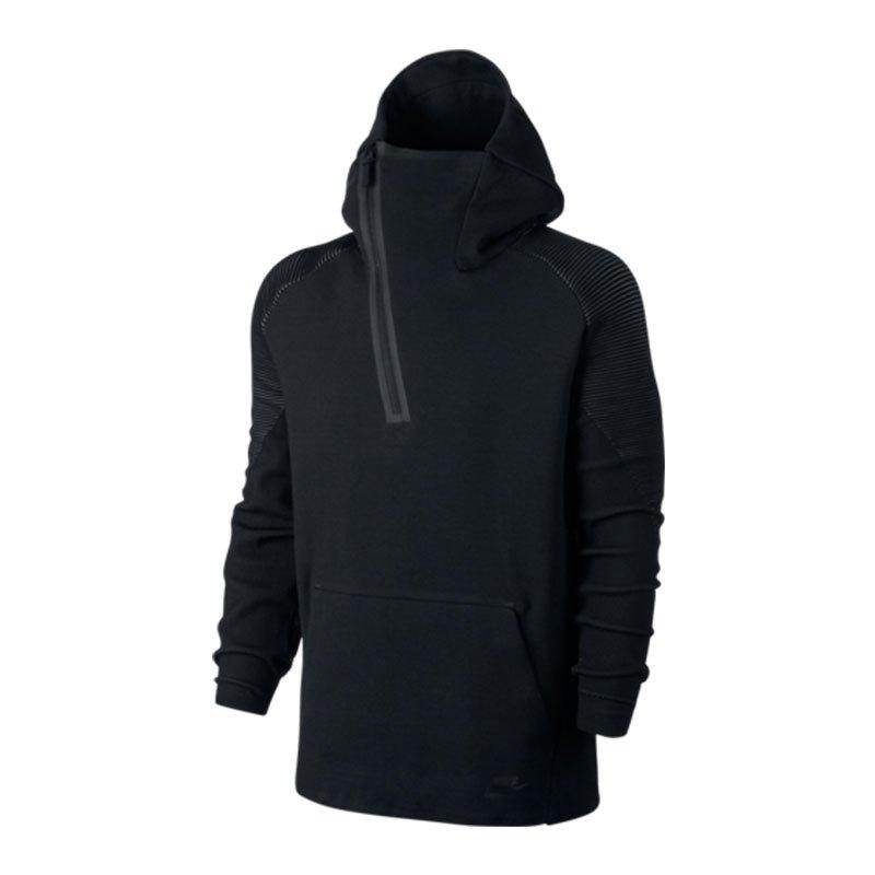 nike tech fleece 1 2 zip hoodie schwarz f010 bekleidung. Black Bedroom Furniture Sets. Home Design Ideas