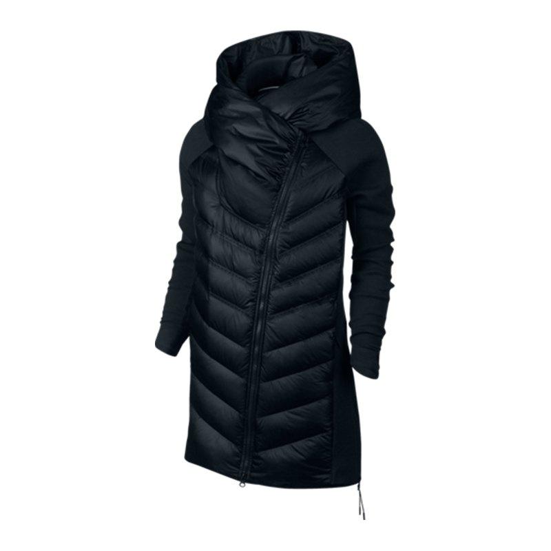 nike tech fleece aeroloft parka jacke damen f010 frauenbekleidung woman jacket freizeit. Black Bedroom Furniture Sets. Home Design Ideas