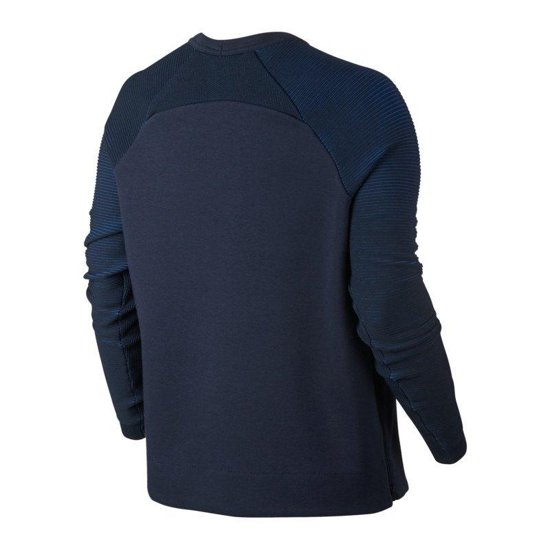 nike tech fleece crew sweatshirt damen blau f451 lifestyle damenshirt frauen pullover. Black Bedroom Furniture Sets. Home Design Ideas