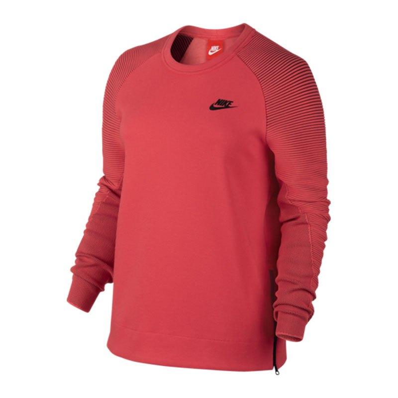 Nike Tech Fleece Crew Sweatshirt Damen Rot F850 Lifestyle