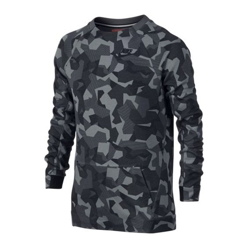 nike tech fleece crew sweatshirt kids grau f021 pullover. Black Bedroom Furniture Sets. Home Design Ideas