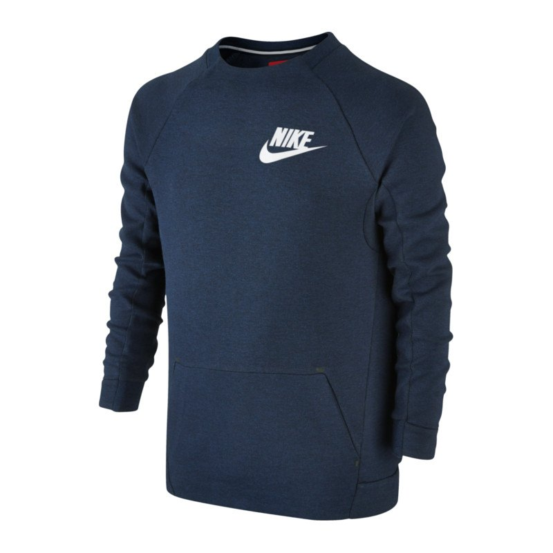 Nike Tech Fleece Crew Sweatshirt Kids Blau F473 - blau