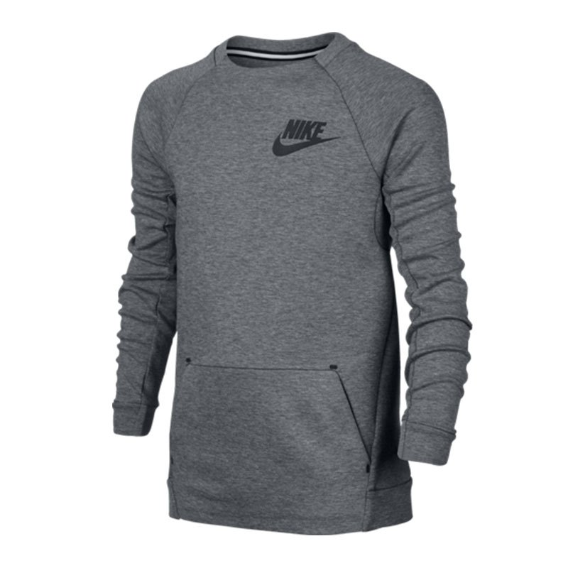nike tech fleece crew sweatshirt kids grau f092. Black Bedroom Furniture Sets. Home Design Ideas