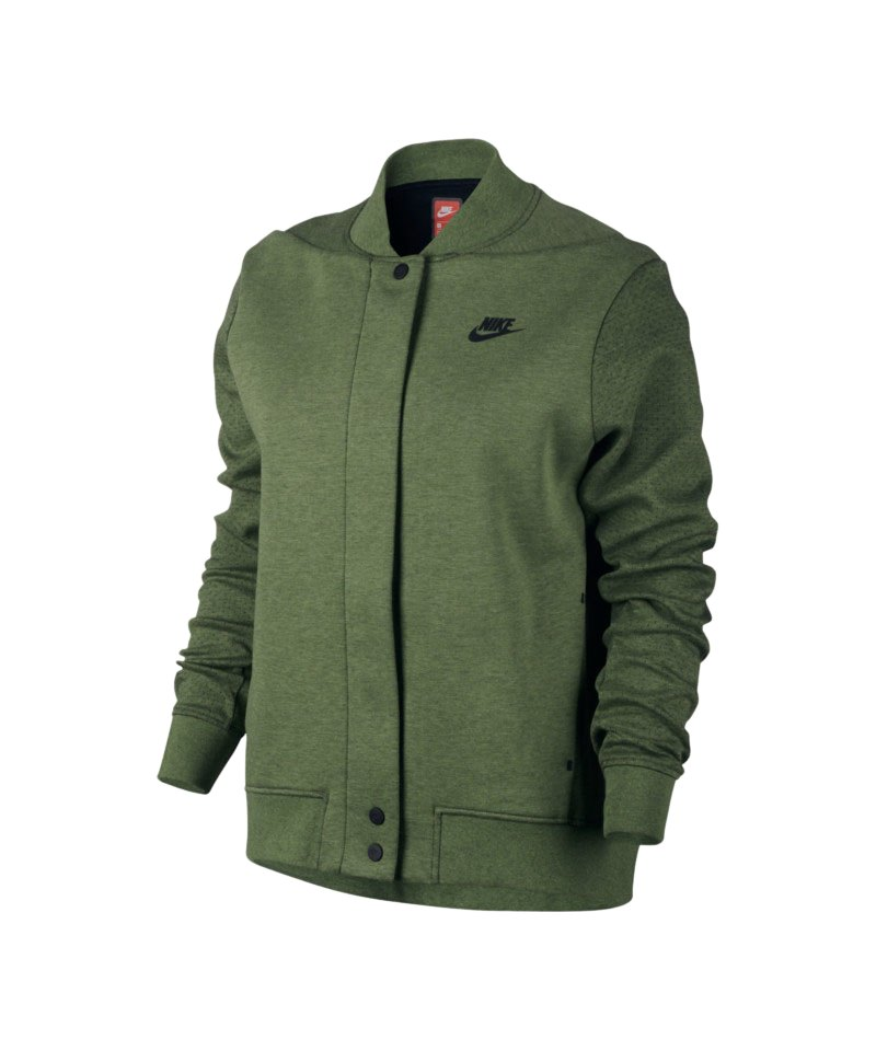 nike tech fleece destroyer jacke damen khaki f387. Black Bedroom Furniture Sets. Home Design Ideas