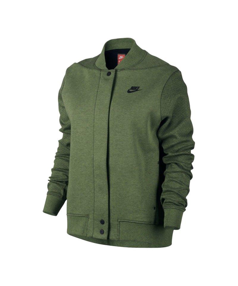 Tech Fleece F387 Nike Khaki Destroyer Jacke Damen WY2D9IEH