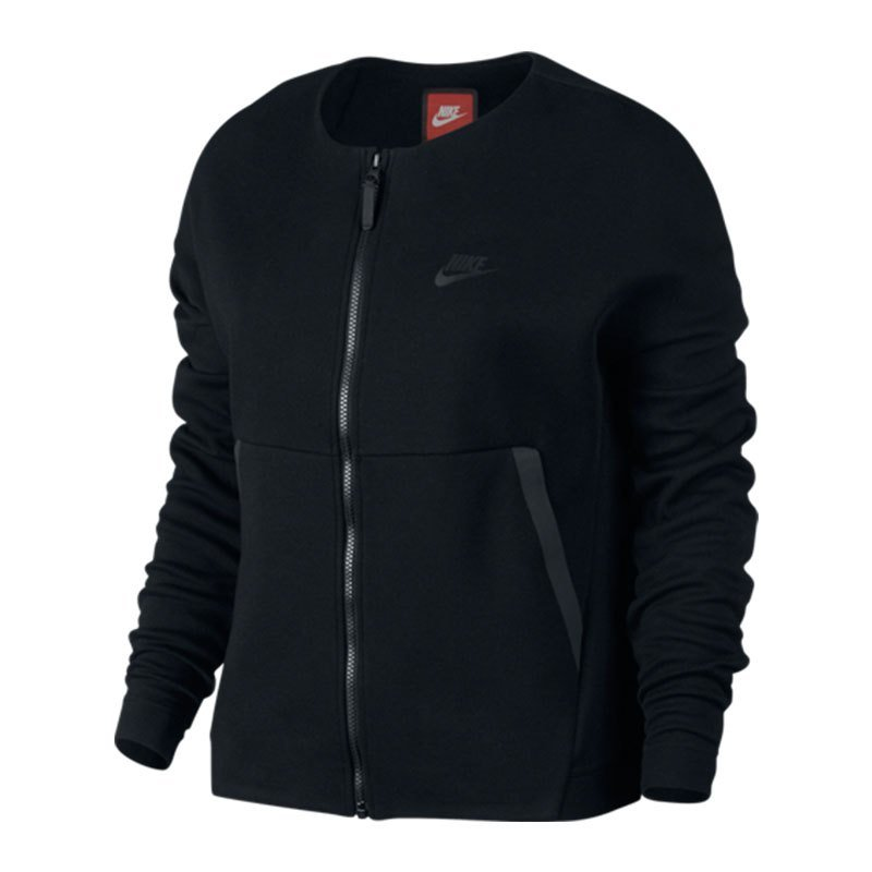nike tech fleece jacket damen schwarz f010 lifestyle. Black Bedroom Furniture Sets. Home Design Ideas